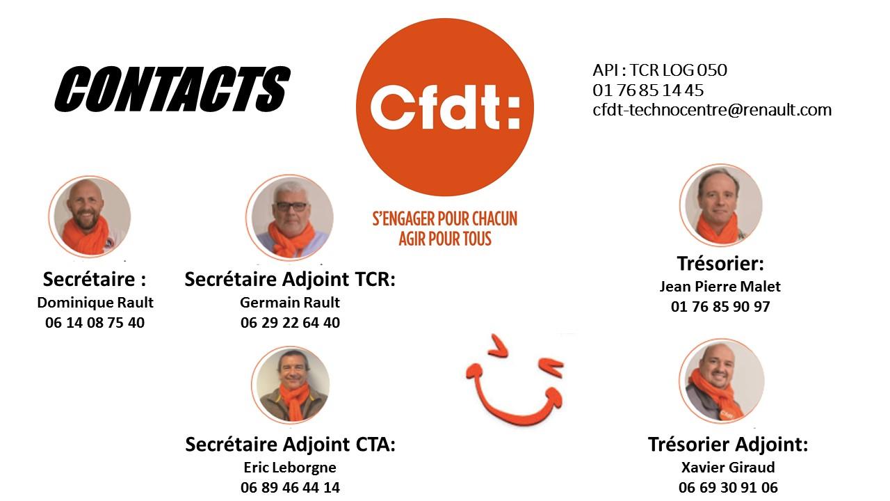 L'équipe des élus CFDT Renault GUYANCOURT-AUBEVOYE